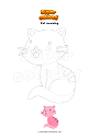 Coloring page Cat meowing