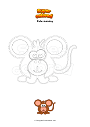 Coloring page Cute monkey