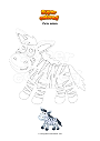 Coloring page Cute zebra