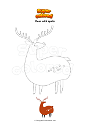 Coloring page Deer with spots