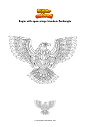 Coloring page Eagle with open wings Mandala Zentangle
