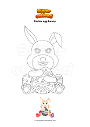 Coloring page Easter egg bunny