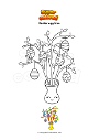 Coloring page Easter egg tree