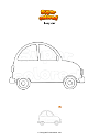 Coloring page Easy car