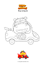 Coloring page Easy racing car