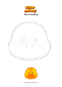 Coloring page Face of duckling