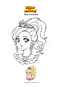 Coloring page Face of princess