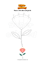 Coloring page Flower with stem and pistils