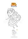 Coloring page Flying Princess