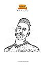 Coloring page Fortnite neymar jr