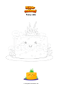 Coloring page Funny cake