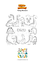 Coloring page Funny dinosaurs