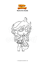 Coloring page Gacha Life Candie