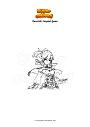 Coloring page Genshin Impact Jean