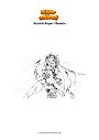 Coloring page Genshin Impact Rosaria