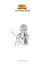 Coloring page Genshin Impact Zhongli