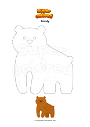 Coloring page Grizzly