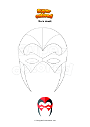 Coloring page Hero mask