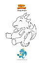 Coloring page Hungry Dragon