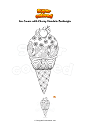 Coloring page Ice Cream with Cherry Mandala Zentangle