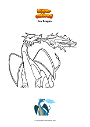 Coloring page Ice Dragon