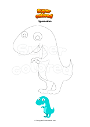 Coloring page Iguanodon
