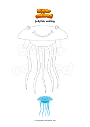 Coloring page Jellyfish smiling