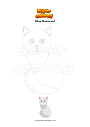Coloring page Khao Manee cat