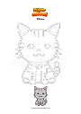 Coloring page Kitten