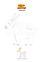 Coloring page Little goat