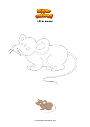 Coloring page Little mouse