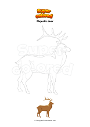 Coloring page Majestic deer