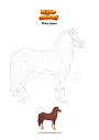 Coloring page Male horse