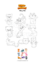 Coloring page Many Cats