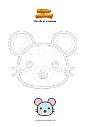 Coloring page Muzzle of a mouse