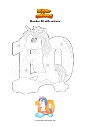 Coloring page Number 10 with unicorn