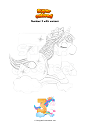 Coloring page Number 3 with unicorn