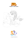 Coloring page Number 5 with unicorn