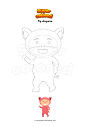 Coloring page Pig disguise