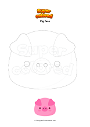 Coloring page Pig face