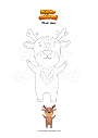 Coloring page Plush deer