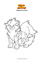 Coloring page Pokemon Arcanine