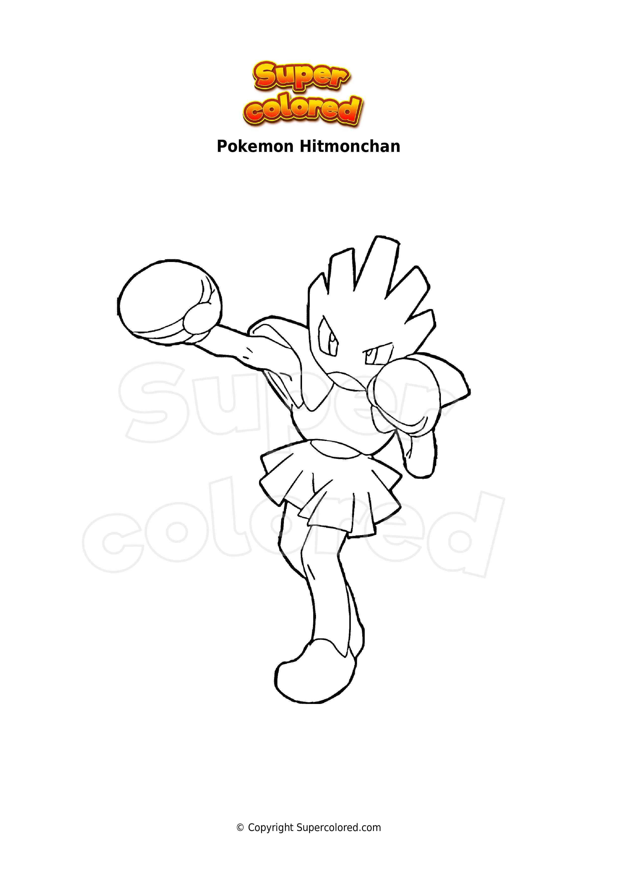 Coloring Page Pokemon Hitmonchan Supercolored Com