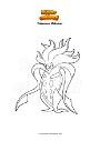 Coloring page Pokemon Malamar