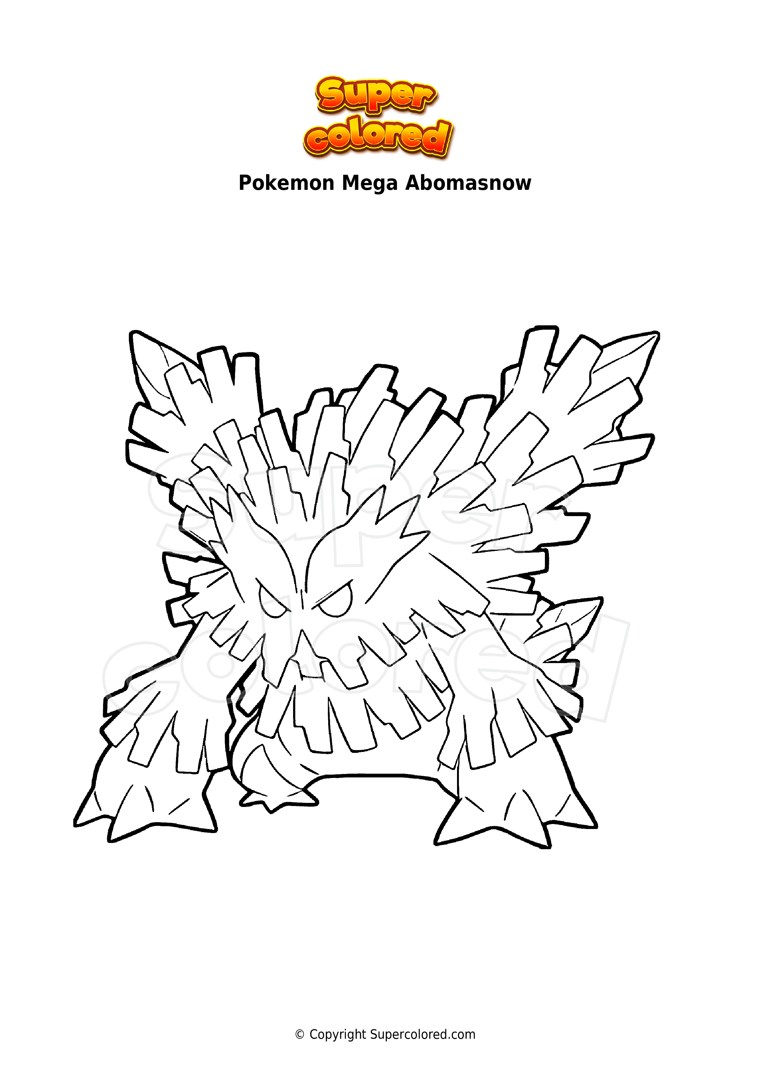 Coloring Page Pokemon Mega Abomasnow Supercolored Com