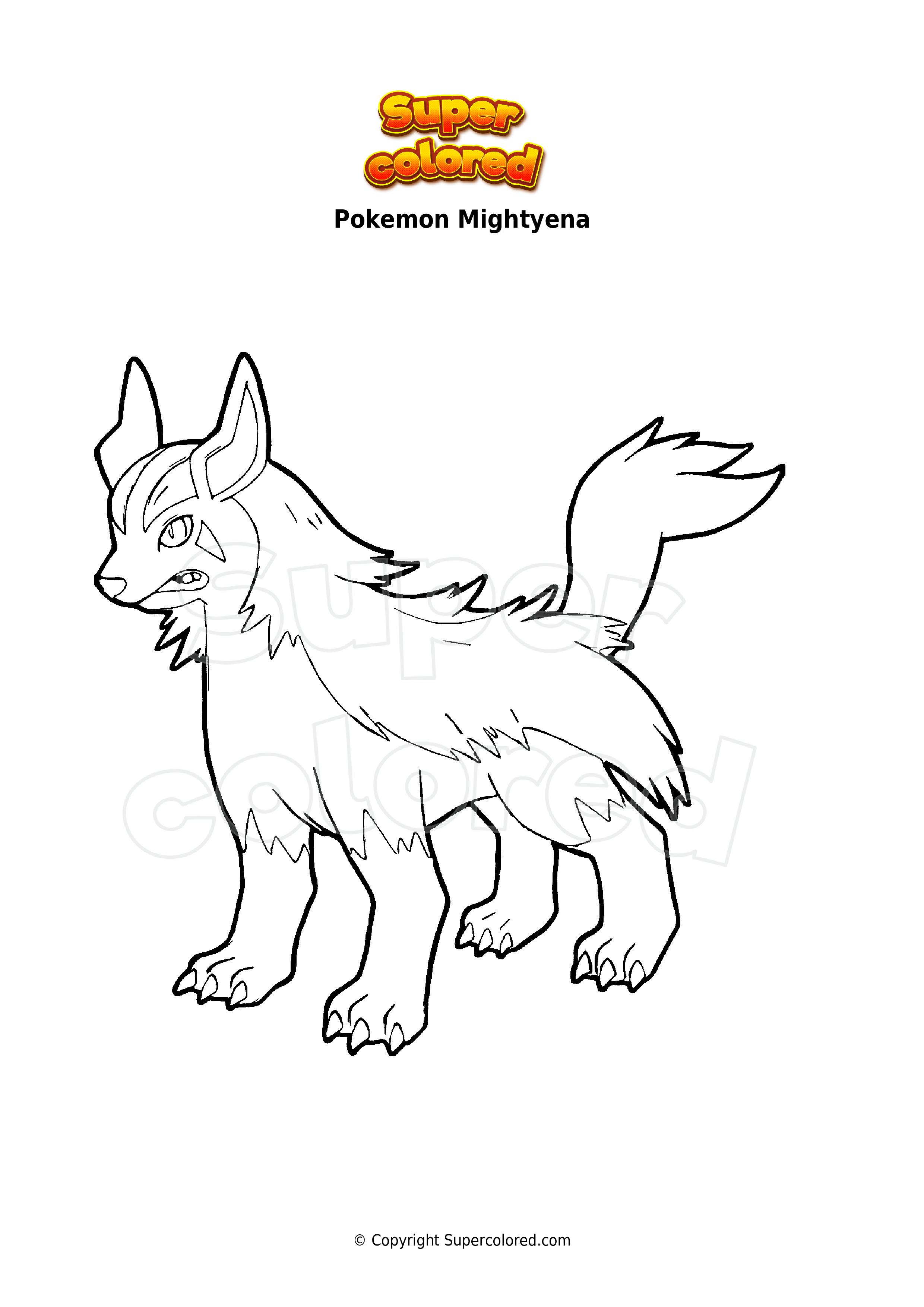 Coloring Page Pokemon Mightyena Supercolored Com