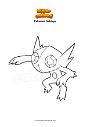 Coloring page Pokemon Sableye