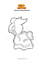 Coloring page Pokemon Shellos East Sea