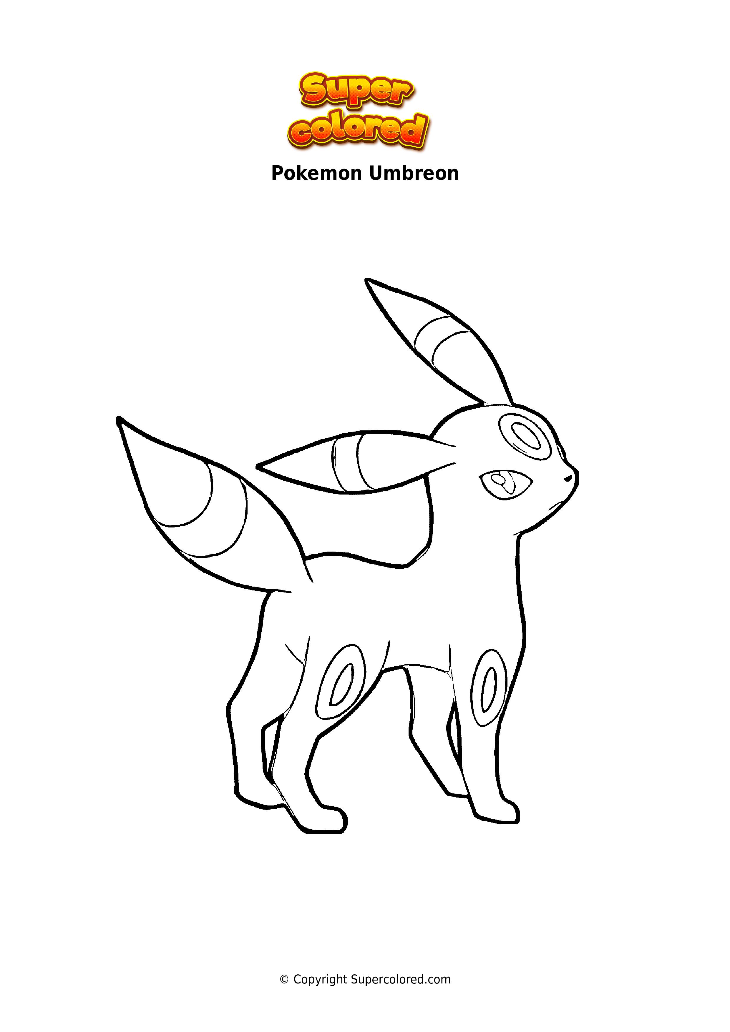 Coloring Page Pokemon Umbreon Supercolored Com