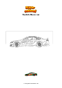 Coloring page Realistic Nascar car